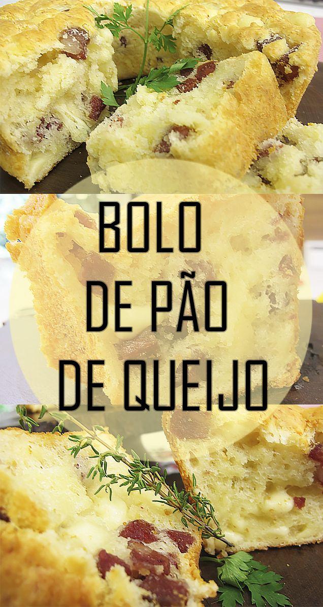 Receita incrível de Bolo de pão de queijo com linguiça e provolone (sem glúten)   ideal para o lanche da tarde   receita rápida