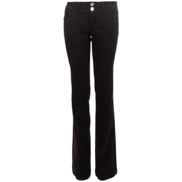 Morgan High-waisted flared denim jeans (81 AUD) ❤ liked on Polyvore featuring jeans, black, women, high-rise flare jeans, flared jeans, high waisted flare jeans, high-rise flared jeans and high rise jeans