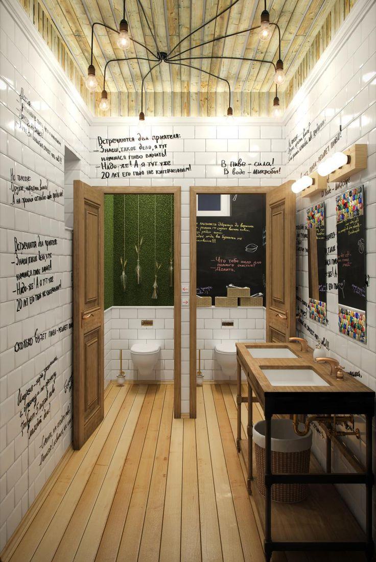 Интерьер туалета для пивного бара - Галерея 3ddd.ru
