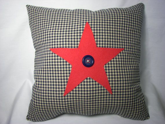 AMERICANA Throw PILLOW   16X16 in Red Star by uniquecozytreasures, $22.00: Handmade Pillows, Accent Pillows, Pillows 16X16, Red Stars, Throw Pillow Covers, Pillows Measuring, Americana Crafts, Americana Throw, Throw Pillows Covers