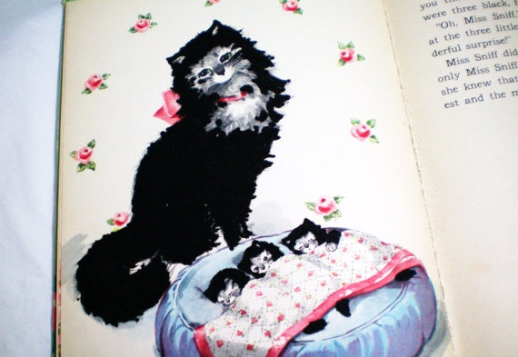 Vintage Miss Sniff The Fuzzy Cat A Fuzzy Wuzzy Book