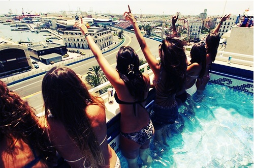 Spending time with my girls, doing girly stuff :): Pink Summer, Summer Vacations, Buckets Lists, Friends, Rooftops Pools, Swim Pools, Hot Tubs, Pools Parties, Summer Fun