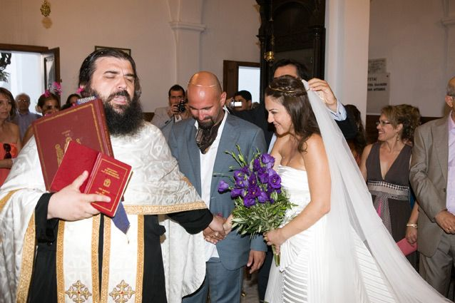 Santorini #Greek #orthodox #wedding