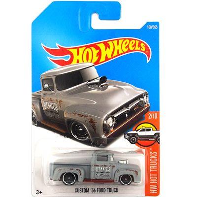 Pendatang baru 2017 hot wheels kustom 56 ford truk cars logam diecast model koleksi anak-anak toys kendaraan untuk anak juguetes