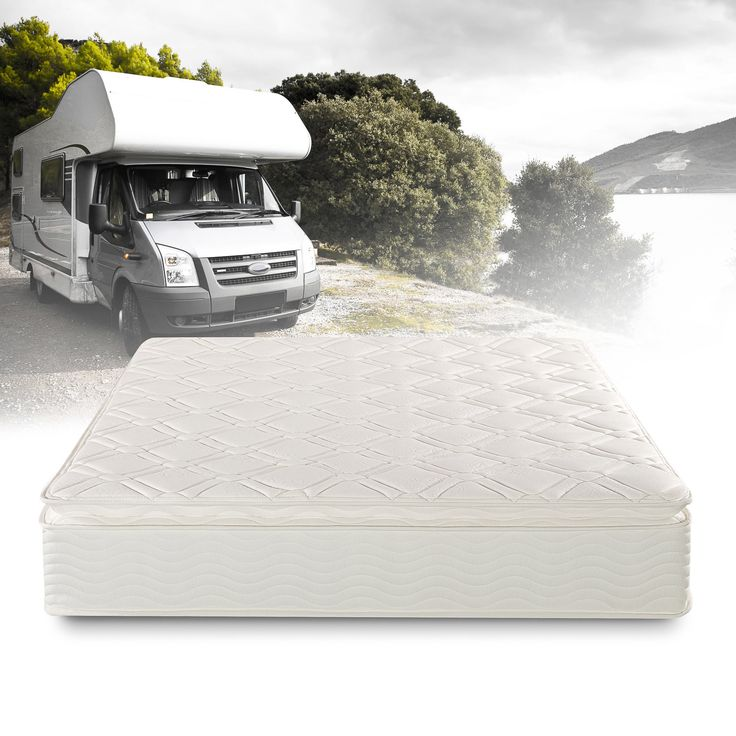 Priage Deluxe Short Queen-size Pillowtop Pocketed Spring RV Mattress, Black