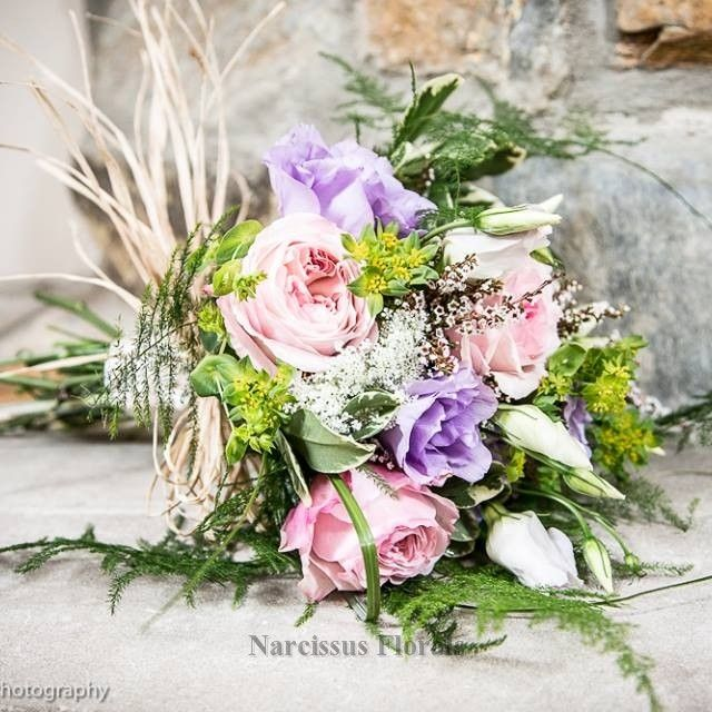 Pink And Purple Bridal Bouquet Rustic Touches Narcissus Fls Toms River Nj