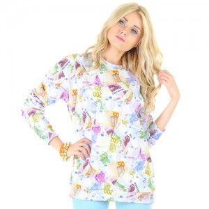 Bluza Oversize Hipster z nadrukiem EURO unisex