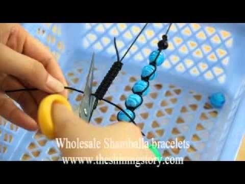 Make your own shamballa macrame bracelets in 15 minutes, rhinestone disco glitter ball bracelets - YouTube
