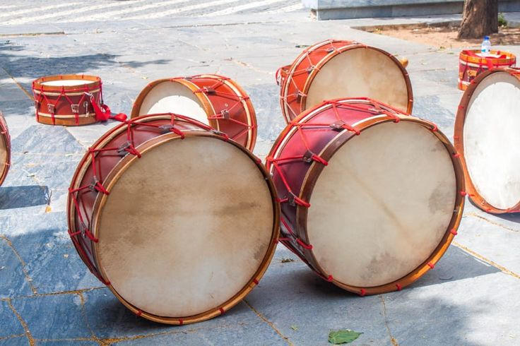 Free photo: Music, Drums, Red, Wood, Rope