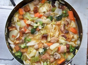 Pochero may sound Spanish but it is a classic Filipino dish that mainly consists of vegetables and pork. With this version, the dish is highlighted with various vegetables, mushroom, fried tofu, and veggie pork. I will be making this!