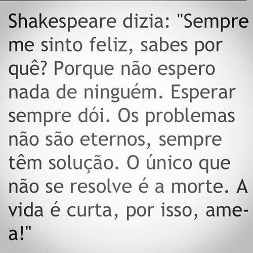 Shakespeare dizia