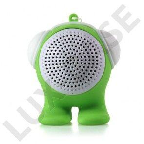 Tegneserie Dukke (Grøn) Bluetooth Højtaler med Aux-input