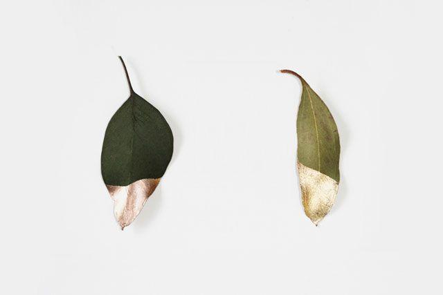 .Dips Leaves, Ignite Lights, Gold Leaf, Golddip, Gold Dipped, Gold Leaves, Gold Dips, Diy, Dips Leaf