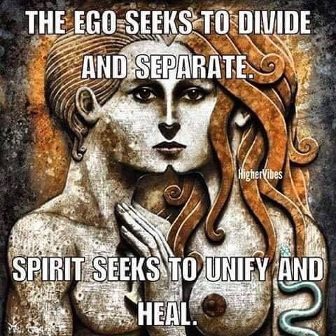 Ego's all about duality.