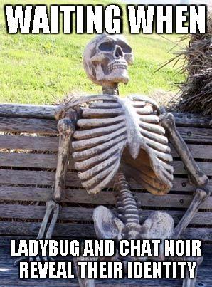 Esperando el momento en que Catnoir y ladybug revelen sus identidades