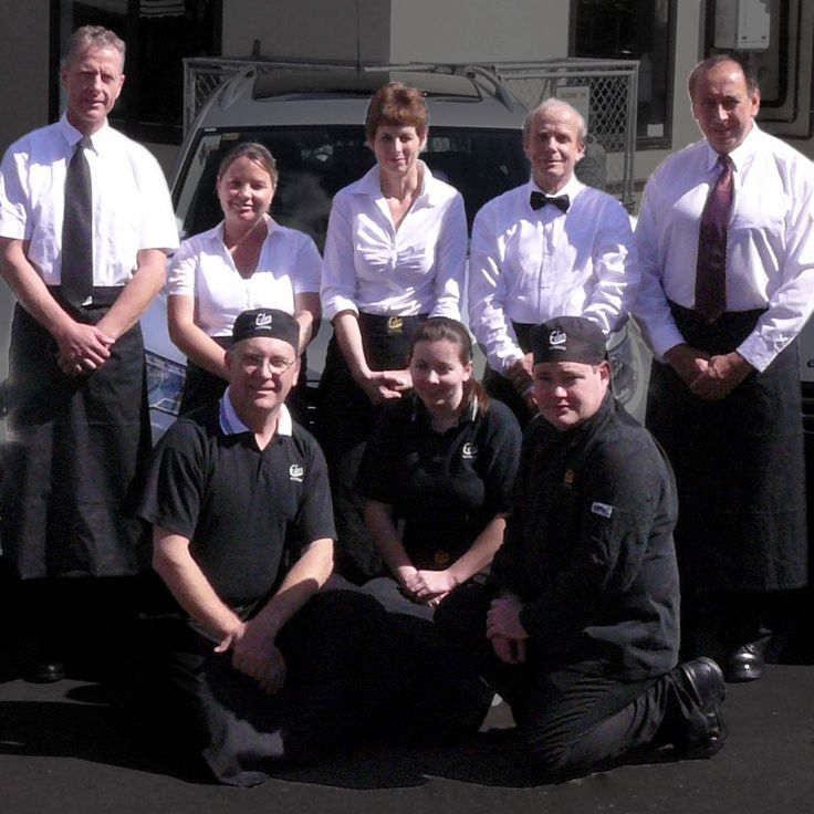 From Left to Right, Top to Bottom - Philipp(Driver), Amie(Office Manager), Debbie(Executive Chef), Gerd(Driver), Tere(Driver) Paul(Owner), Dani(Chef), Mikey(Chef)
