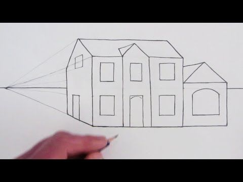 How to Draw a Simple House in One-Point Perspective: Narrated Drawing - YouTube