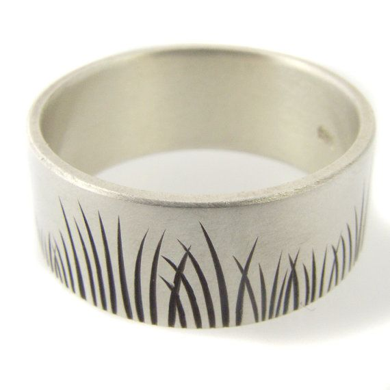 Blades of Grass Ring, $125 | 34 Unconventional Wedding Band Options For Men
