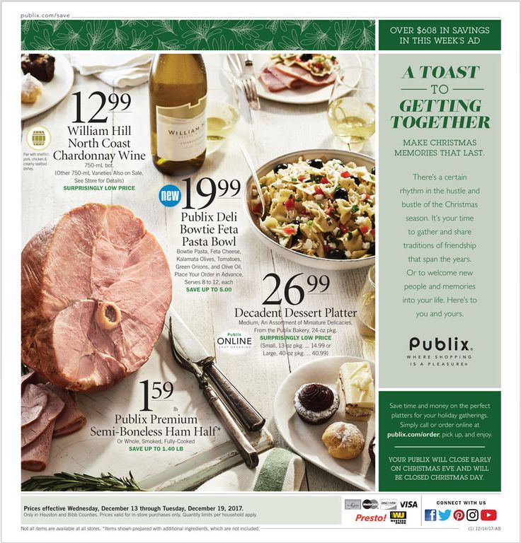 Publix Weekly Ad December 13 - 19, 2017 - http://www.olcatalog.com/grocery/publix-weekly-ad.html
