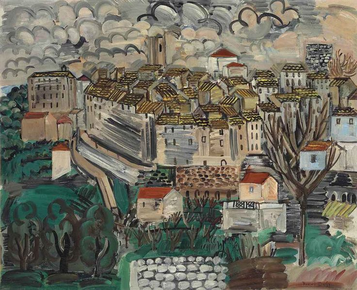 Raoul Dufy (French, 1877-1953), Vence, 1920. Oil on canvas, 59.4 x 72.8 cm.
