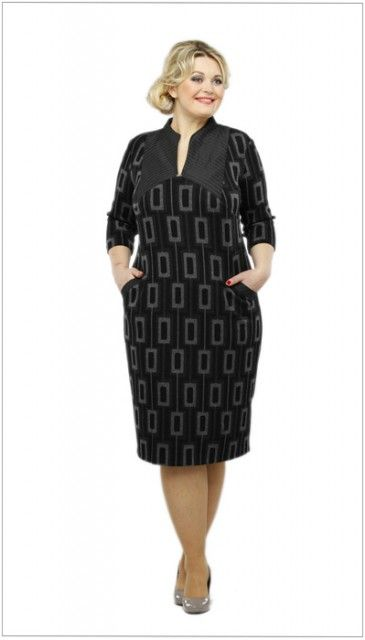Vestidos del patrón para obesos. Modelos de ropa para la completa