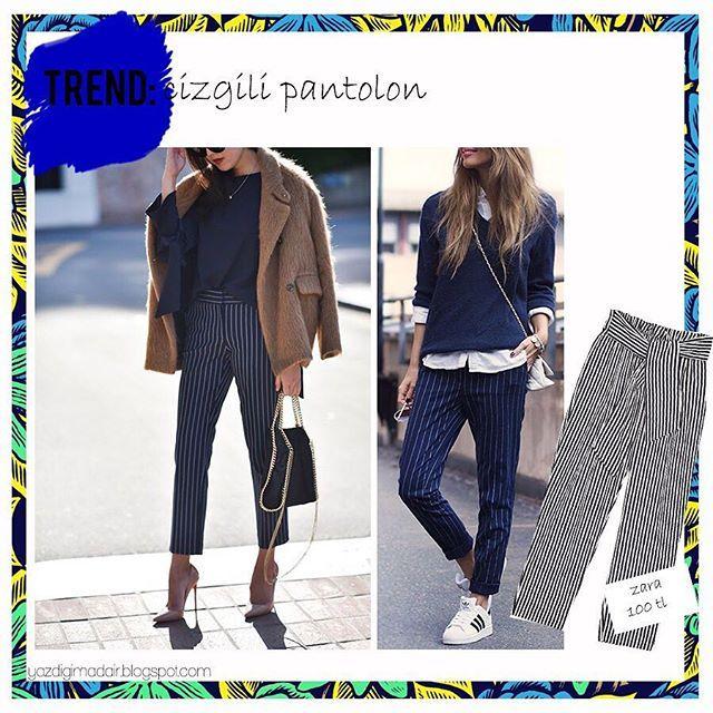 Bu sezon her mağazada gördüğümüz çizgili/şeritli pantolonları beğeniyor musunuz? Ben çok beğeniyorum ve iyi ki trend olmuş diyorum!✨ Aslında çizgili pantolonları kombinlemek çok zor değil☺️ Sadece minik tavsiyelere uyup oldukça şık görünebilirsiniz🌸 Uygun fiyatlı çizgili pantolon önerilerine de ihtiyacınız varsa beklerim. Çizgili pantolon trendini incelediğim yazım şimdi blogumda!☺️ #moda  #fashion  #ootd  #streetfashion  #streetstyle  #flatlay  #kombin  #fashionblog  #mango  #bershka…