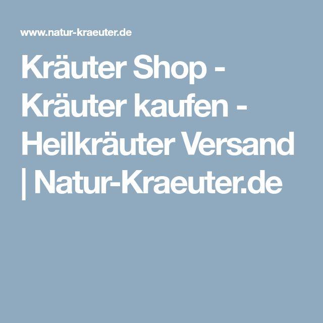 Kräuter Shop - Kräuter kaufen - Heilkräuter Versand | Natur-Kraeuter.de
