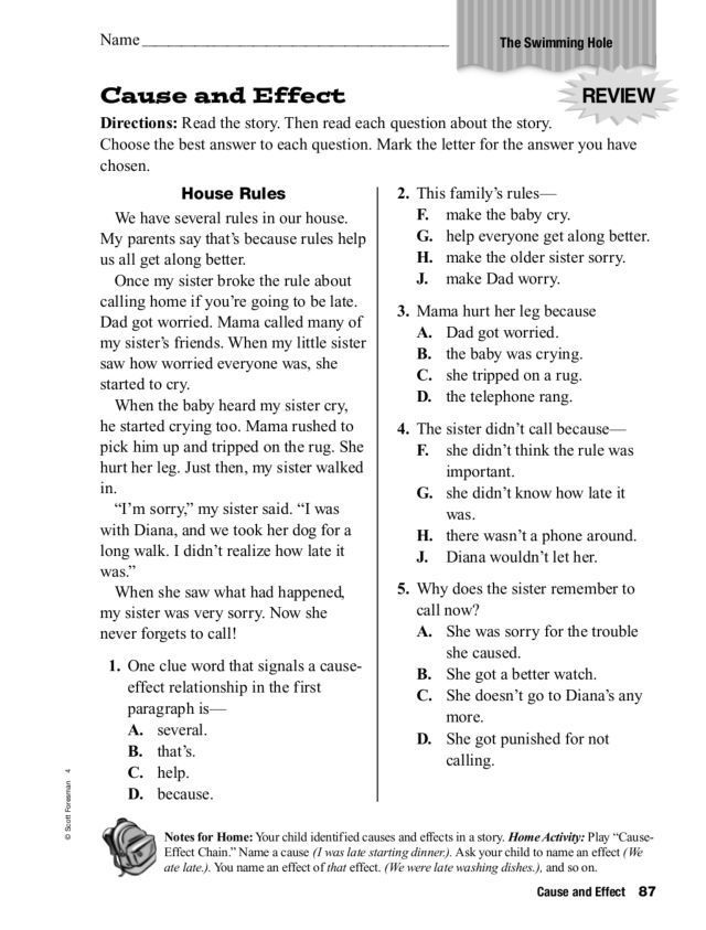 Cause And Effect Worksheets 3Rd Grade for free download ...