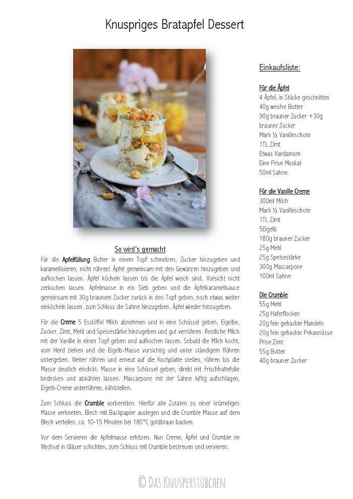 Bratapfel Mascarpone Streusel Dessert _ Baked Apple Mascarpone Crumble Dessert