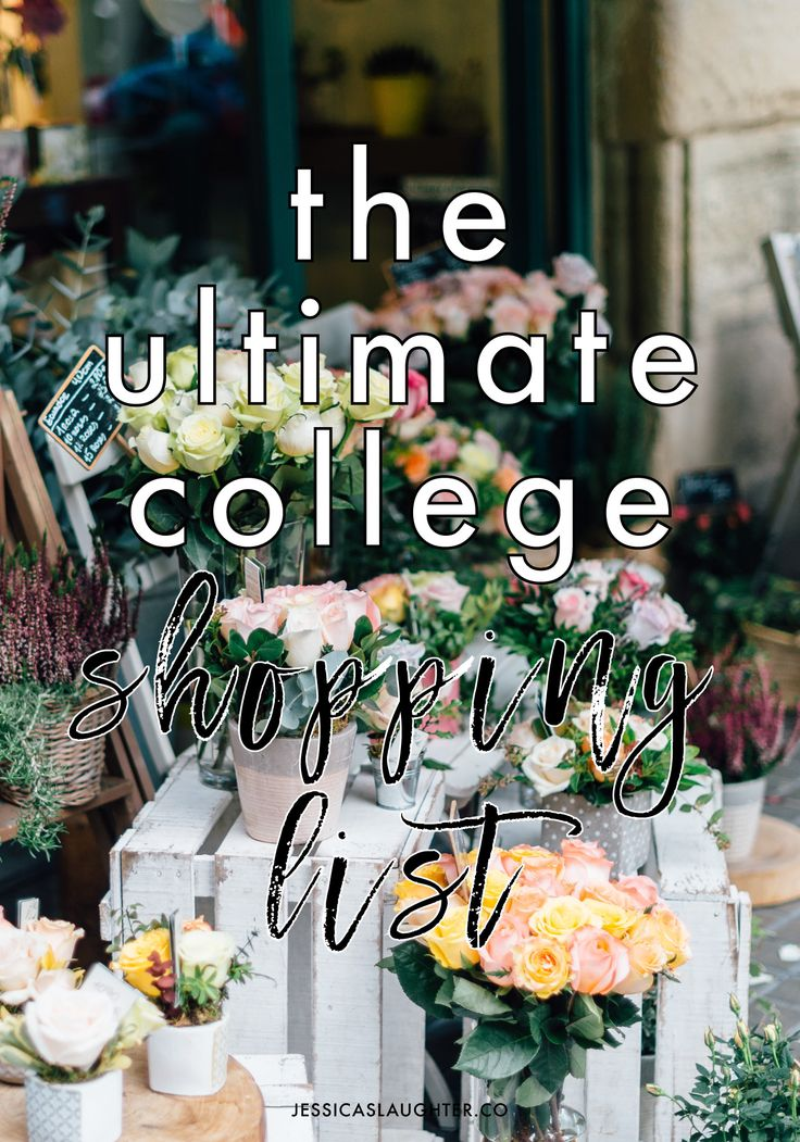 Literally everything you need for your dorm + life when heading off to college!