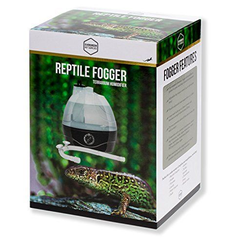 Reptile Humidifier / Reptile Fogger - 2 Liter Tank - Ideal for a Variety of Reptiles / Amphibians / Herps  The Evergreen Pet Supplies fog system (likewise referred to as a vaporizer or terrarium fogger/ terrarium humidifier) is best for animals requiring a moist environment. Our humidification system is one of the key accessories for many exotic animals, and is the best fogger for reptiles and amphibians of all kinds, consisting of bearded dragons, geckos, snakes (ball python, rainbow boa…