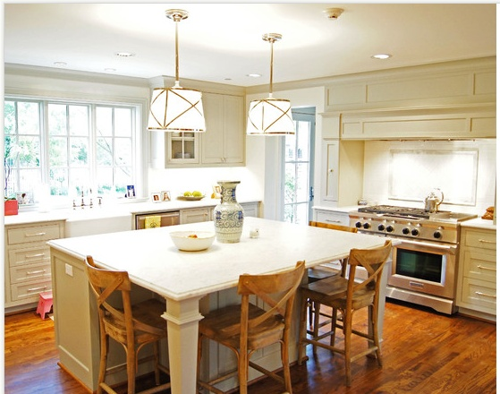kitchen table island combo chair seat replacement decor ideas design