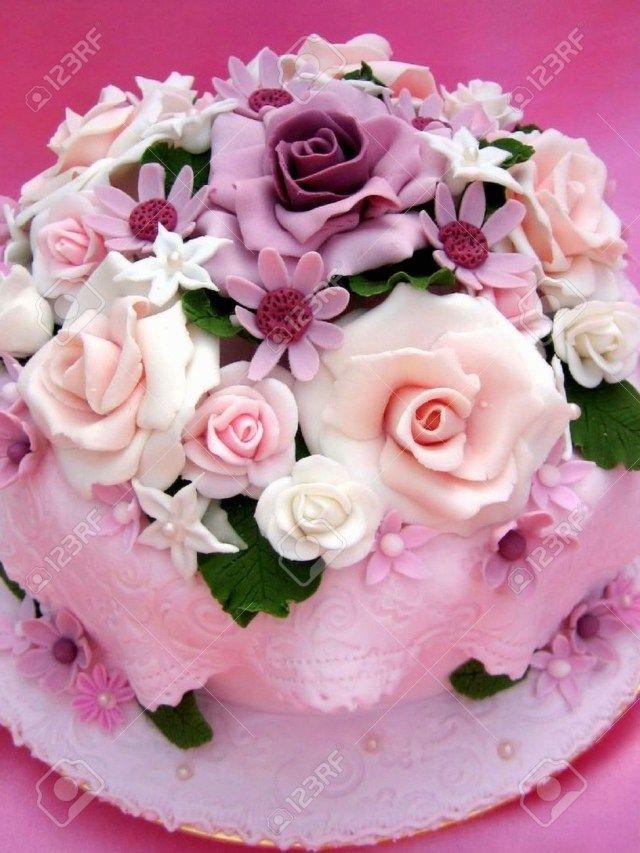 25 Elegant Image Of Flower Birthday Cakes Birthday Cake With