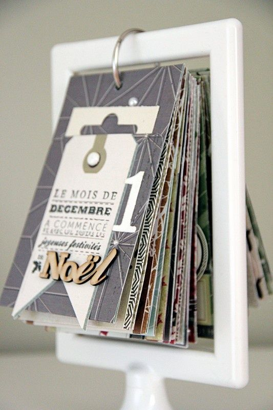 Advent calendar... site is in another language, but looks easy enough to make, frames are 99p at Ikea. [Mic suggests an ATC or tag holder, Cuttlebug samples...]