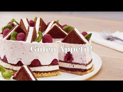 Himbeer-Creme-Ecken mit Milch-Schnitte® - YouTube