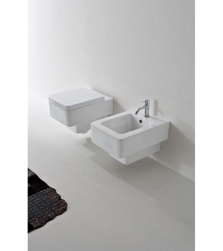 8701 Scarabeo  Scarabeo Teorema 2.0 Vegghengt toalett 500x360 mm, Hvit