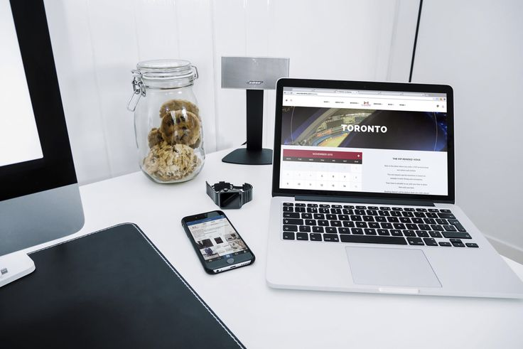 Website design, graphic designer on a mac. Modern design template