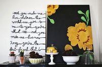 Nesting: Simple Song Lyrics Painting - A Beautiful Mess