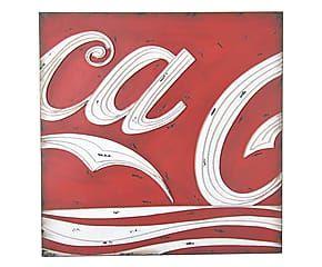 Decorazione da parete in metallo Coca Cola Vintage - 80x80 cm