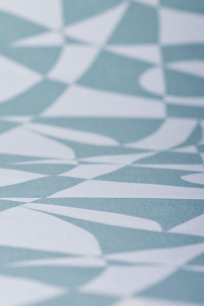 FREEMOVER Regatta™ pattern printed on Organic Cotton. Vintage Green on White. Design: Maria Lovisa Dahlberg.