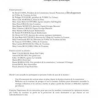 Commission Accueil, Promotion et Développement de l'Office de Tourisme de Sète 20 Septembre 2013 Compte rendu synthétique Etaient présents : M. David COSTE,. http://slidehot.com/resources/cr-commission-promotion-20-09-2013-office-de-tourisme-de-sete.23399/