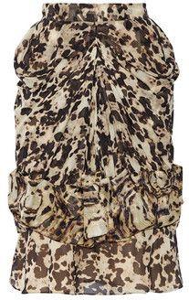 Givenchy Geraffter Rock aus Chiffon-Seide