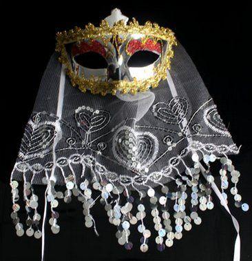 Amazon.co.jp | コスプレマスク ベネチアンレースマスク 仮面舞踏会 コスプレ、クリスマス、仮装パーティなど (白ホワイト) | ホビー 通販