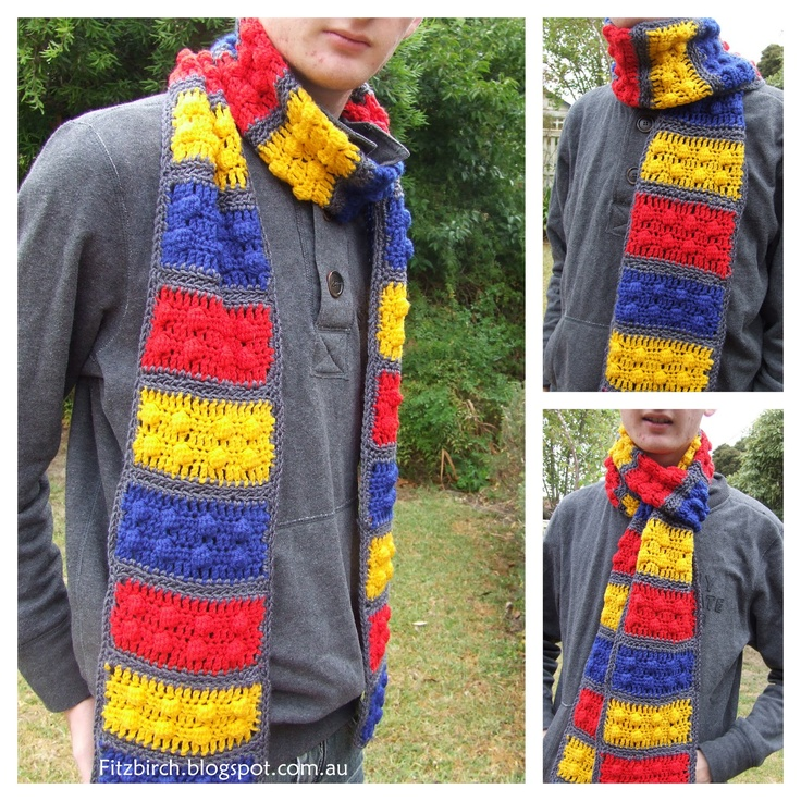 FitzBirch Crafts: Lego Brick Crochet Scarf FREE Pattern