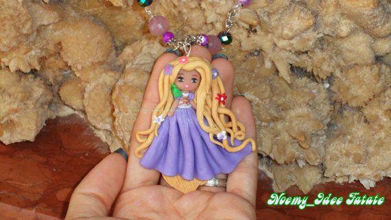 Guarda questo articolo nel mio negozio Etsy https://www.etsy.com/it/listing/211278061/collana-rapunzel-in-fimo Rapunzel polymer clay