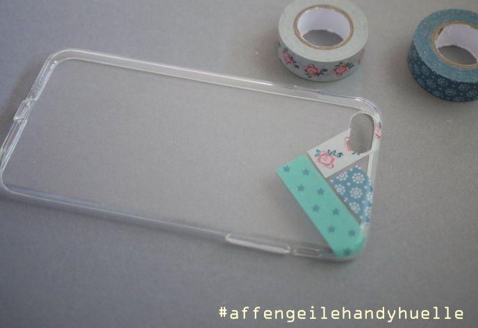 schritt vier handyhuelle mit washi tape kreieren