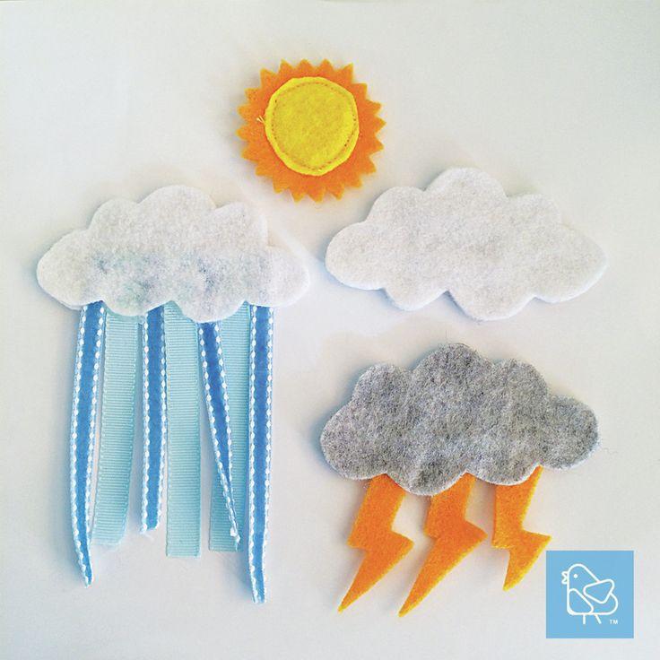 Cest Petite Vienna DIY Quiet Book Hanging Clothes Laundry Weather Sun Cloud Thunder Rain