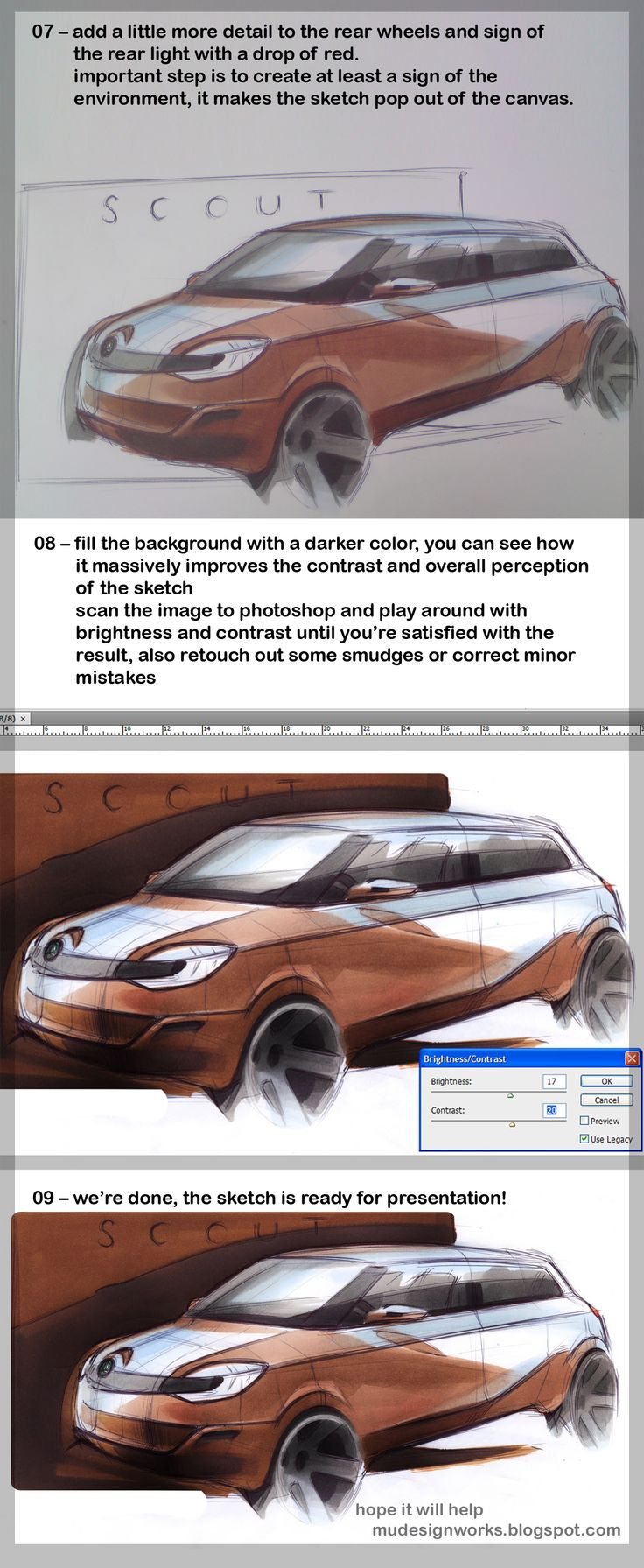 How To Draw Cars  A Sketch Tutorial