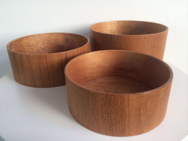 Vintage Modern Teak Plywood Nesting Bowl Set of 3 by Moderndesign20 on Etsy