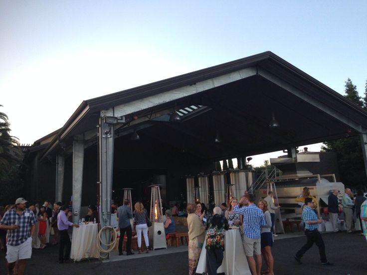 Party on the winery crush pad at Round Pond Estate's Summer Solstice Party.